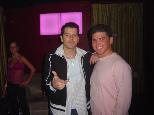 Mike with Jordan Knight from New Kids on the Block