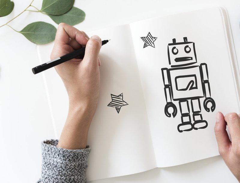 jobs van de toekomst - robot tekening
