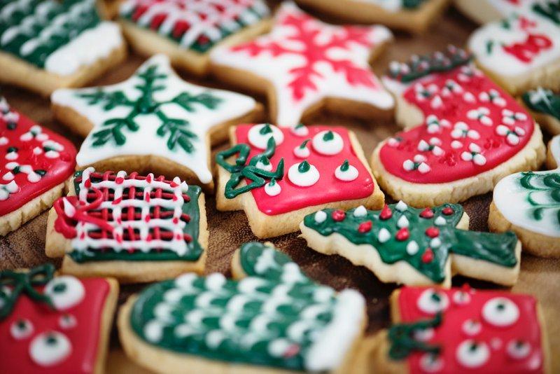 kerstcadeau voor haar kerstmis koekjes