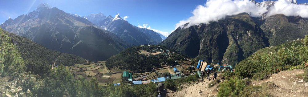 Leaving Namche Bazar to visit Mt Everest - Tim Wade, global motivational speaker