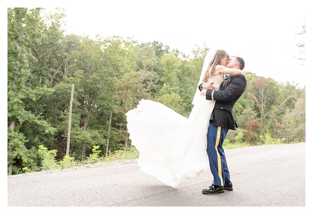 Groom spins bride, asheville wedding