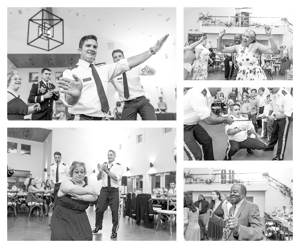 Dancing fun in black and white