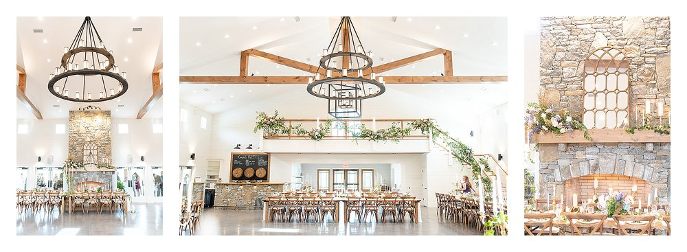White bright indoor reception, asheville