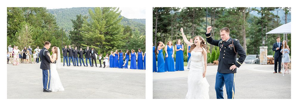 First dance outdoor patio