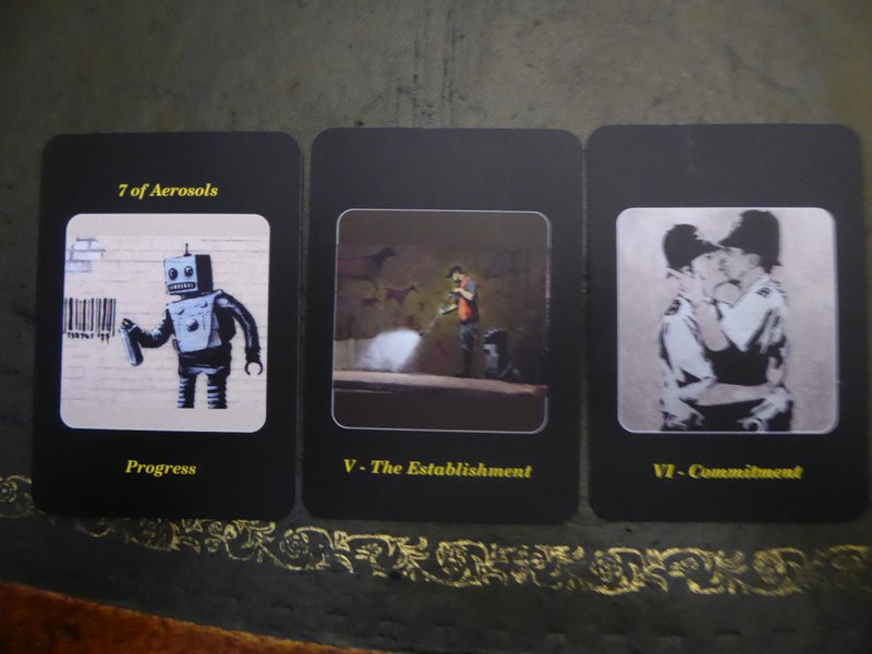 Banksy Art Cards for Tarot Tuesday Mediumship Session