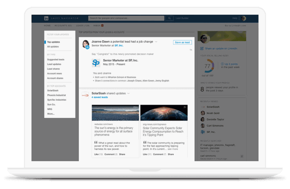 building lead list on linkedin sales navigator