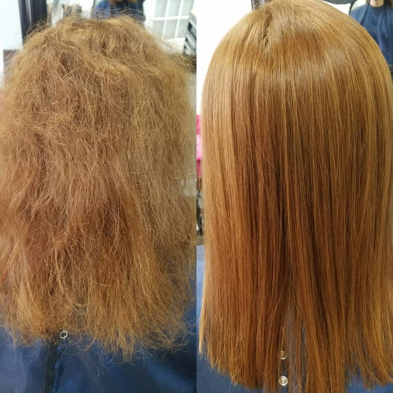 Brazilian Blowout Express Before and After