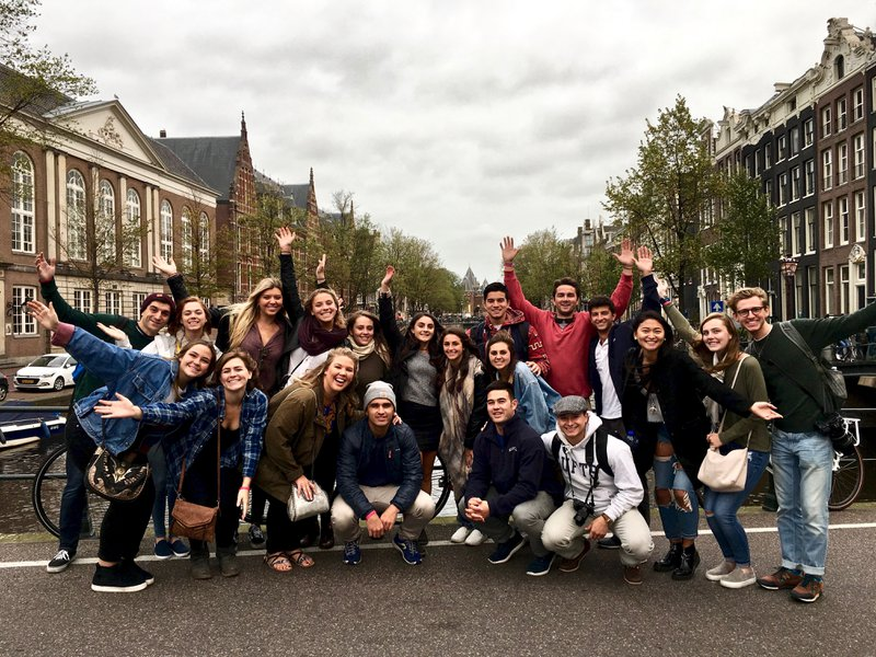 study abroad students in Amsterdam