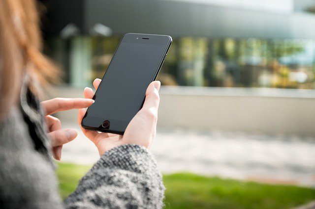 cellphone in hands