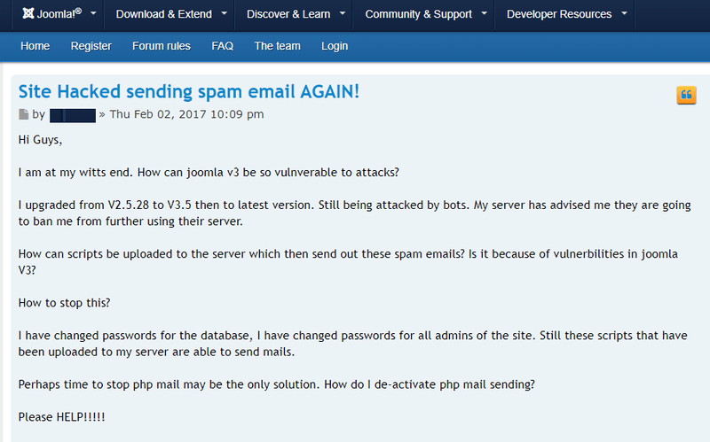 Spam email issue