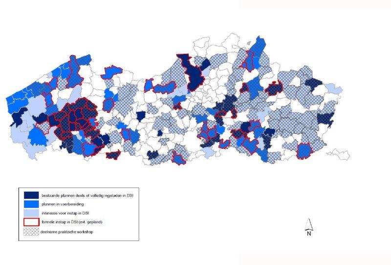 Status DSI gebruik in Vlaanderen - April 2018