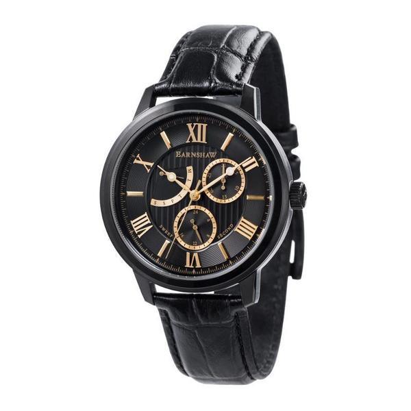 Earnshaw 1805 - Cornwall - ES-8060-05 (Zwart met goud) herenhorloge