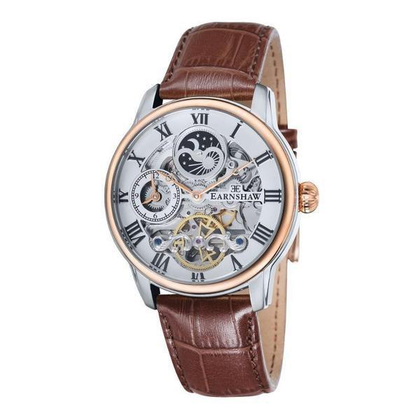 Earnshaw 1805 - Longitude Automatic - ES-8006-03 (Wit met roségoud) herenhorloge