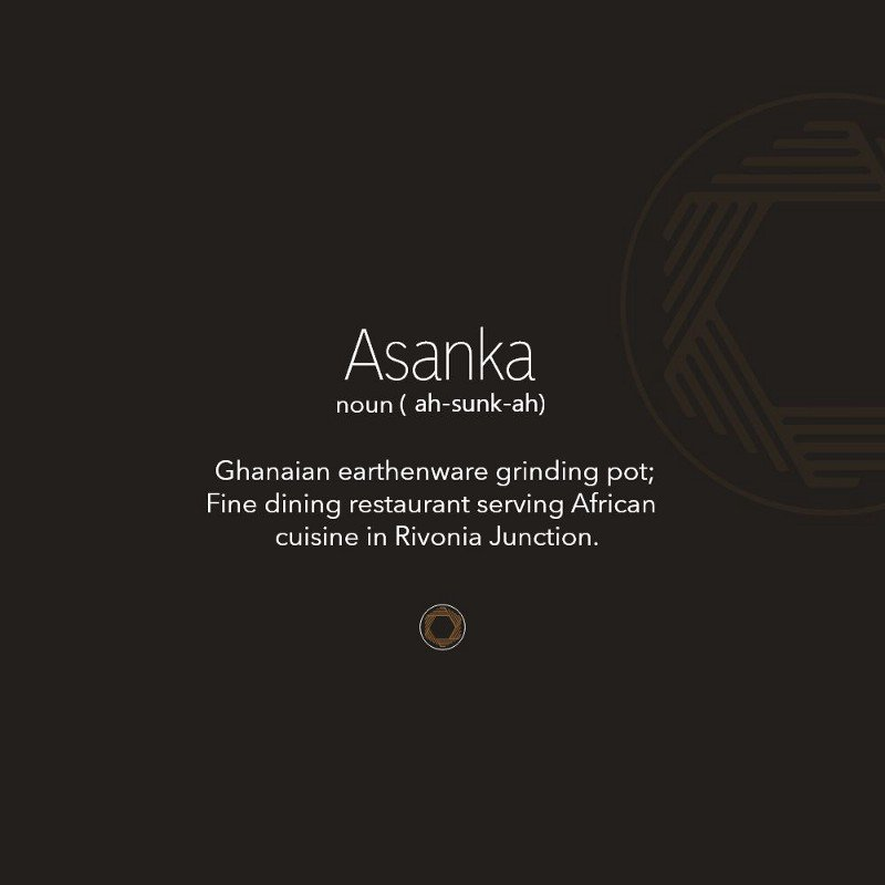 The meaning of the word Asanka on a branded card